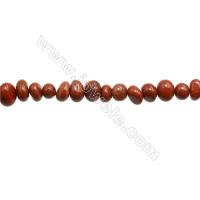 "Red Jasper Beads Strand  Irregular  Size 7~8 x 8~11mm  hole 1mm 15~16"" x 1strand"