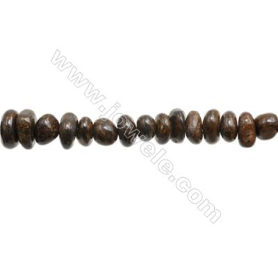 "Natural Bronzite Beads Strand  Size 6~7 x 7~10mm  hole 1mm  15~16"" x 1piece"
