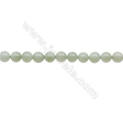 Natural Jadeite Beads Strand  Round  Diameter 7mm  hole 1mm  about 56 beads/strand  15~16""