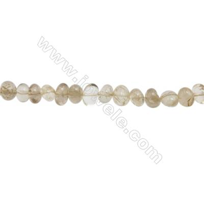 "Natural Rutilated Quartz Beads Strand  Irregular  about 6~8 x 8~11mm  hole 1mm  15~16"" x 1strand"