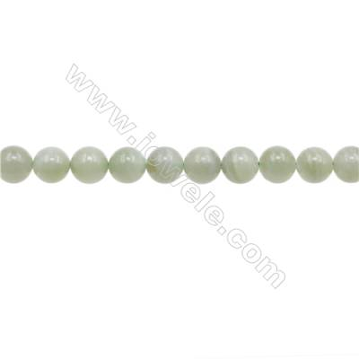 Natural Jadeite Beads Strand  Round  Diameter 9mm  hole 1mm  about 45 beads/strand  15~16""