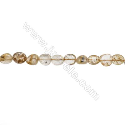 "Natural Rutilated Quartz Beads Strand  Irregular  About 4~6 mm x 8~10mm  hole 1mm  15~16"" x 1strand"