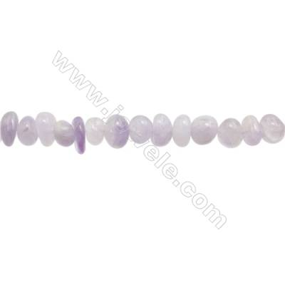 "Natural Amethyst Beads Strand  Irregular  Size 4~9mm x 8~10mm  hole 1mm  15~16"" x 1strand"