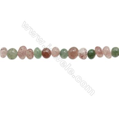 "Multi-Color Quartz Beads Strand  Irregular  Size 8~9x9~10mm  hole 1mm  15~16"" x 1 Strand"