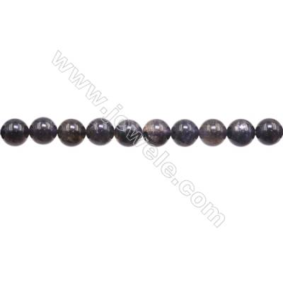 Natural Iolite Beads Strand  Round  Diameter 8mm  Hole 1mm  about 51 beads/strand  15~16""