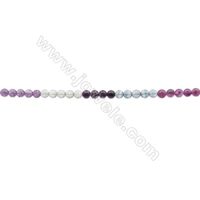 Natural Fluorite Beads Strand  Round  Diameter 8mm  hole 1mm  about 52 beads/strand 15~16""