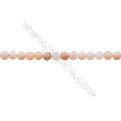 Natural Pink Opal Beads Strand  Round  Diameter 6.5mm  hole 1mm  about 62 beads/strand 15~16""