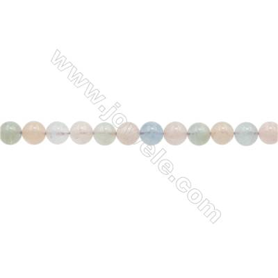 Natural Morganite Beads Strand  Round  Diameter 6mm  hole 1mm  about 62 beads/strand 15~16""