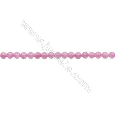 Natural Pink Tourmaline Beads Strand  Round  Diameter 4mm  hole 0.8mm  about 99 beads/strand 15~16""