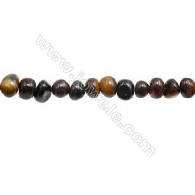 "Tiger Eye Beads Strand  Size 6~8x8~10mm   hole 1mm 15~16"" x 1strand"