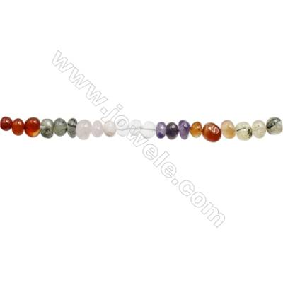"Mixture Gemstone Beads Strand  Size 8~10x10~11mm  hole 1mm  15~16"" x 1strand"