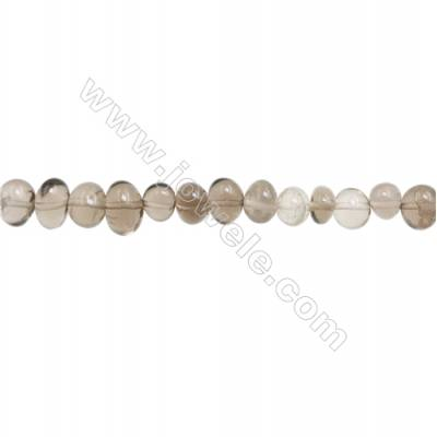 "Natural Smoky Quartz Beads Strand  Size 6~8x8~11mm  hole 1mm  15~16"" x 1strand"