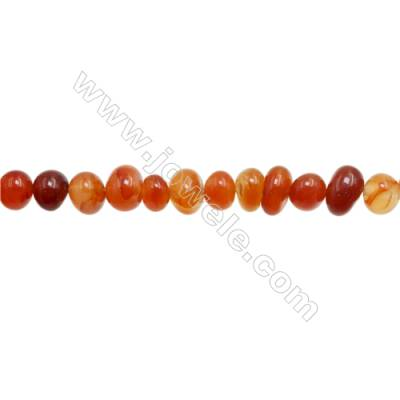 "Natural Red Agate Beads Strand  Irregular  Size 6~9x7~11mm  Hole: 1mm  15~16"" x 1strand"