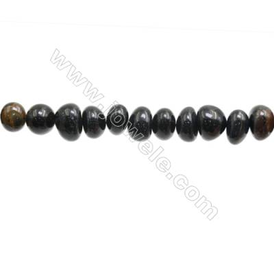 "Natural Tiger Blue Eye Beads Strands  Size 6~9x10~14mm  Hole: 1mm  15~16"" x 1Strand"