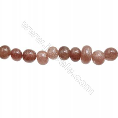 "Natural Strawberry Quartz Beads Strand  Irregular  Size 9~10 x 11~15mm  hole 1mm  15~16"" x 1strand"