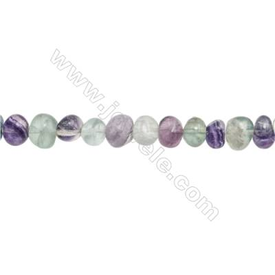 "Natural Fluorite Beads Strand  Irregular  Size 7~9 x 8~11mm  hole 1mm  15~16"" x 1strand"