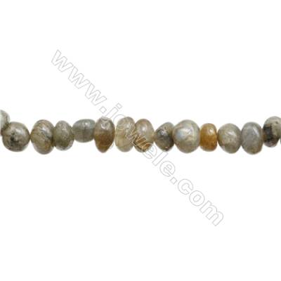 "Natural Labradorite Beads Strand  Irregular  Size 6~9 x 8~10mm  hole 1mm  15~16"" x 1strand"
