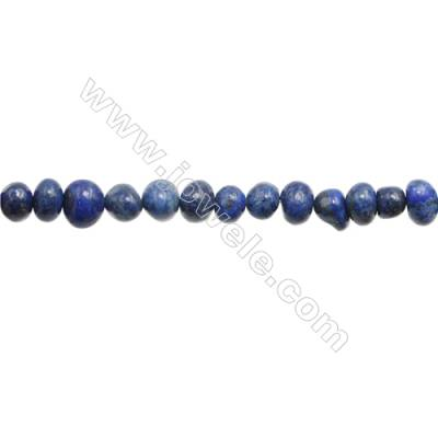 "Natural Lapis Lazuli Beads Strand  Irregular  Size 7~9x10~11mm  hole 1mm  15~16"" x 1strand"