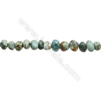 Natural African turquoise Beads Strand x 1 piece  Size 7~8 x 9~12mm  hole 1mm 15~16""