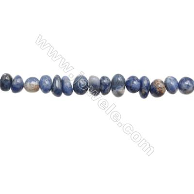 "Natural Gemstone Sodalite Beads Strand  Irregular  Size 6~9x8~10mm   hole 1mm  15~16"" x 1strand"