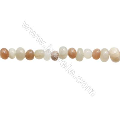 "Natural Mix Moonstone Beads Strand  Irregular  Size 5~8x8~10mm   hole 1mm  15~16"" x 1strand"