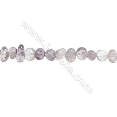 "Natural Amethyst Beads Strand  Irregular  About 6~7x8~10mm  hole 1mm  15~16"" x 1strand"