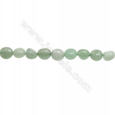 "Natural Green Aventurine Beads Strand, Irregular, Size 7~8mm x8~9mm, Hole 1mm, 15~16""/piece"