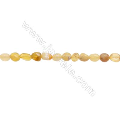 "Natural Yellow Opal Beads  Irregular  Size 4~6x8~9mm   hole 1mm  15~16"" x 1strand"