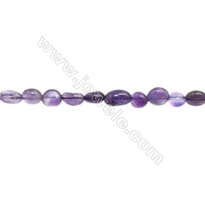 "Natural Amethyst Beads Strand  Irregular  Size 6~7mm x 7~11mm  hole 1mm  15~16"" x 1strand"