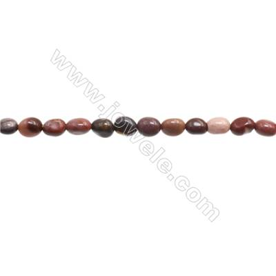 "Natural Mookaite Beads Strand  Irregular  About 5-7 x5-9mm  hole 1mm 15~16"" x 1strand"