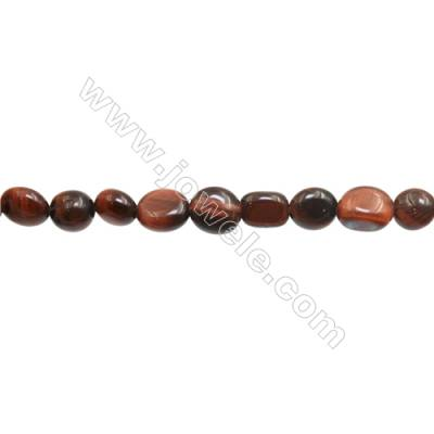 "Red Tiger Eye Beads Strands  Irregular  Size 5~7x7~11mm  Hole: 1mm  15~16"" x 1Strand"