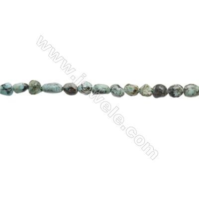 Natural African turquoise Beads Strand x 1 piece  Size 4~6 x 6~11mm  hole 1mm 15~16""
