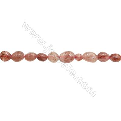 "Natural Strawberry Quartz Beads Strand, Irregular, Size 4~6mm x5~9mm, Hole 1mm, 15~16""/strand"
