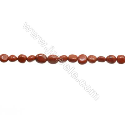 "Red Jasper Beads Strand  Irregular  Size 7~8mm x8~9mm  hole 1mm 15~16"" x 1strand"