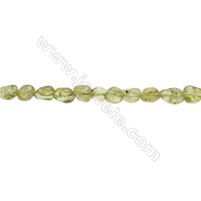 "Natural Olivine Peridot Beads Strand  Irregular  Size 5~6x6~7mm   hole 1mm  15~16"" x 1strand"