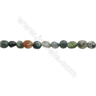 "Natural Indian Agate Beads Strand  Irregular   Size 6~8x7~9mm   hole 1mm   15~16"" x 1Strand"