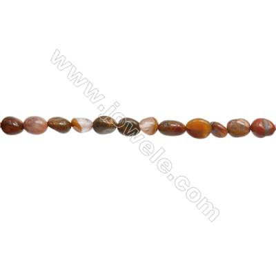 "Natural Agate Beads Strand  Irregular   Size 5~7x7~9mm   hole 1mm   15~16"" x 1Strand"