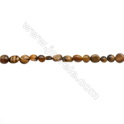 "Tiger Eye Beads Strand  Irregular  Size 5~6x6~8mm   hole 1mm 15~16"" x 1strand"