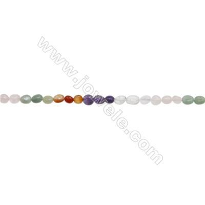 "Mixture Gemstone Beads Strand  Irregular   Size 5x5mm  hole 1mm  15~16"" x 1strand"