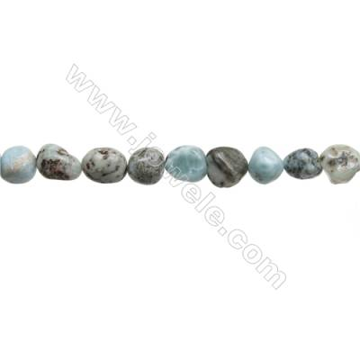 "Natural Larimar Beads Strand Irregular  Size 9~11x11~13mm   hole 1mm  15~16"" x 1strand"