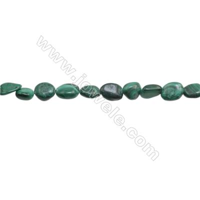 "Natural Malachite Beads Strand  Irregular  Size 8~9x8~13mm  hole 1mm  15~16"" x 1 strand"