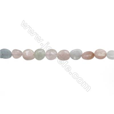 "Natural Morganite Beads Strand  Irregular  Size 8~9x9~12mm  hole 1mm  15~16"" x 1 Strand"