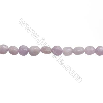 "Natural Kunzite Beads Strand  Irregular  About 7~8x8~10mm  hole 1mm 15~16"" x 1strand"