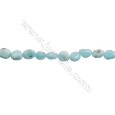 "Natural Amazonite Beads Strand  Irregular  Size 8~9x9~11mm  hole 1mm  15~16"" x 1 strand"