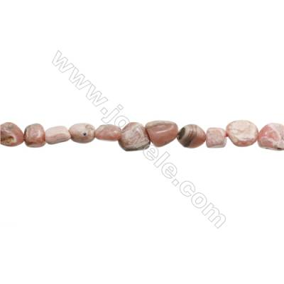 "Natural Rhodochrosite Beads Strand  Irregular  About 7~10x8~11mm  hole 1mm  15~16"" x 1strand"