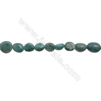 "Natural Chrysocolla Beads Strand  Irregular   about 8~11x8~13mm  hole 1mm  15~16"" x 1strand"