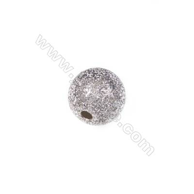 925 Sterling silver frosted bead, 8mm, x 20pcs, hole 1.5mm