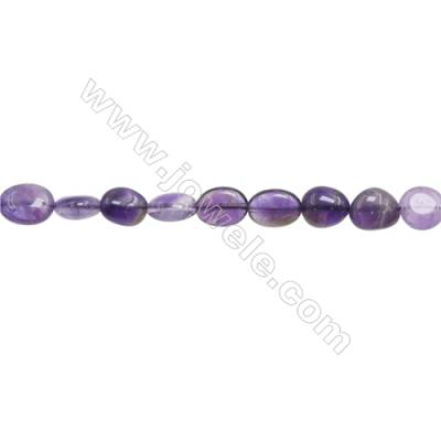 "Natural Amethyst Beads Strand  About 4~5mm x10~12mm  hole 1mm  15~16"" x 1strand"