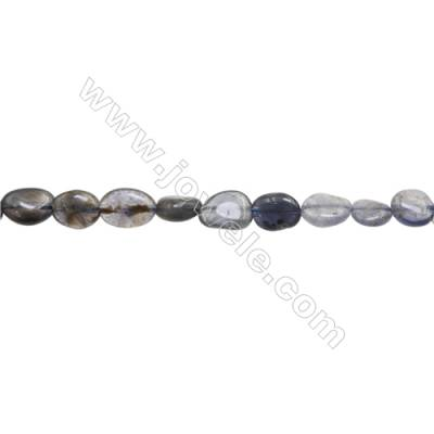 "Natural Iolite Beads Strand  About 3~4mm x 8~12 mm  hole 1mm  15~16"" x 1strand"