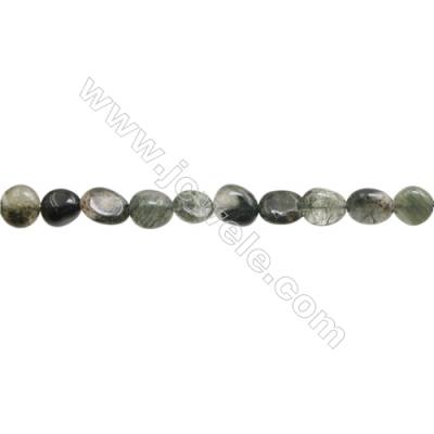 "Natural Rutilated Quartz Beads Strand  About 3~4mm x8~11mm  hole 1mm  15~16"" x 1strand"